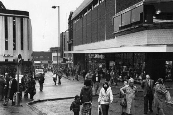 Looking down from Market Square towards Lamb Street, Hanley.