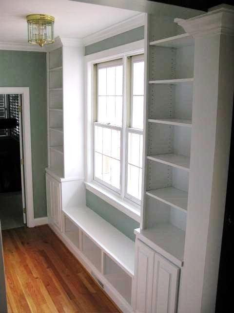 18 best built in cabinets around windows images on pinterest home ideas libraries and woodworking on kitchen cabinets around window id=26339