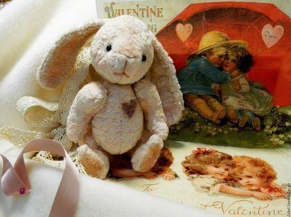 Easter Bunny with   - Teddy Bear - Art teddy - Bunny - Teddy  Bear Easter bunny by RussianshawlRustic on Etsy