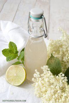 #Holunderblütensirup mit Minze und Limette
