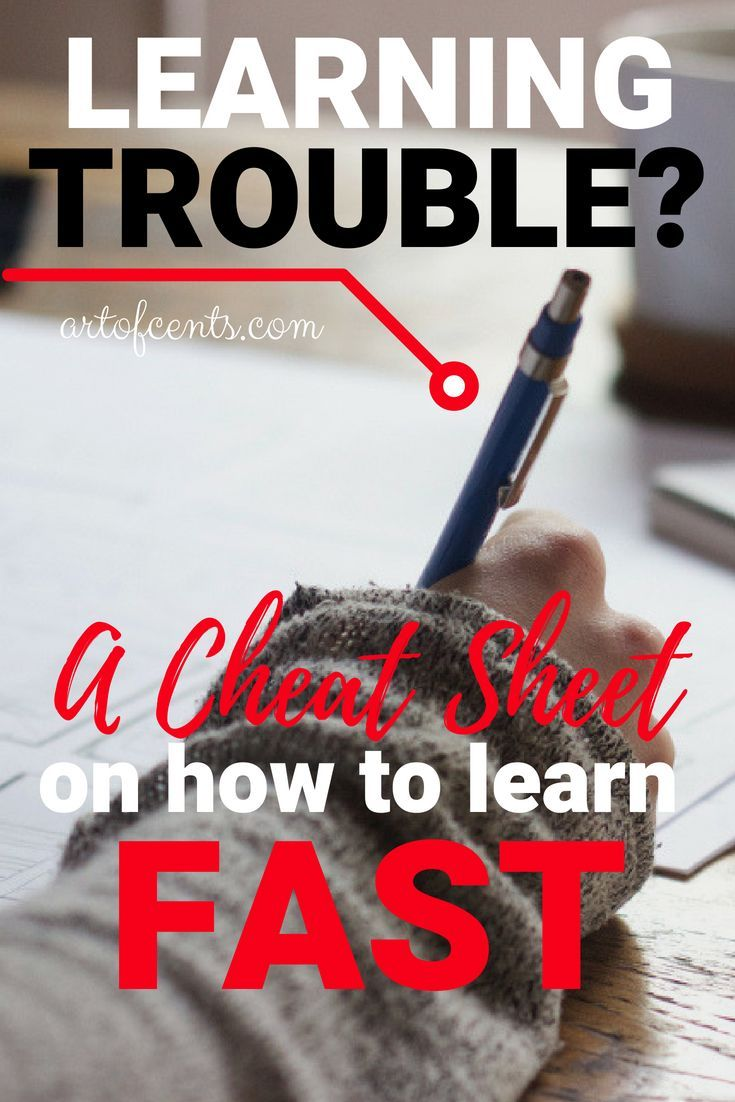 Have Trouble Learning A Cheat Sheet On How To Learn Fast Learn