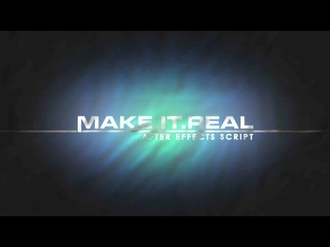 Make It Real - Free After Effects Preset from VFX Bro - YouTube