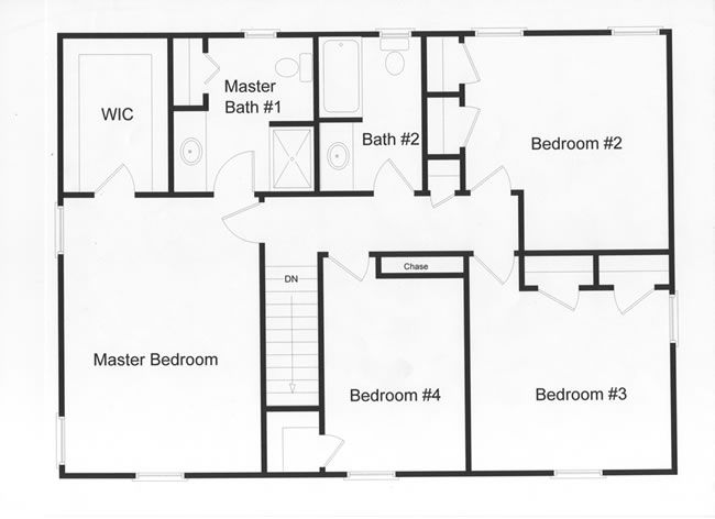 4 bedroom, 2 full baths and large master bedroom