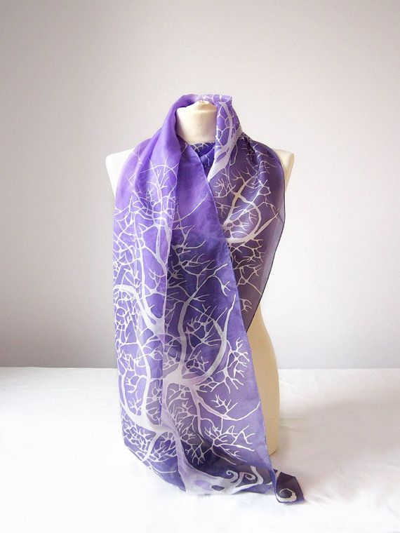 Hey, I found this really awesome Etsy listing at https://www.etsy.com/listing/164945221/purple-scarf-purple-sky-white-tree