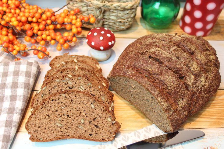 Ein eher lockeres, herzhaftes Brot mit Kruste... Ein Laib Brot. Ergibt etwa 24 Scheiben Brot. 250 g Skyr (alternativ Quark und Joghurt gemischt) 150 ml Min