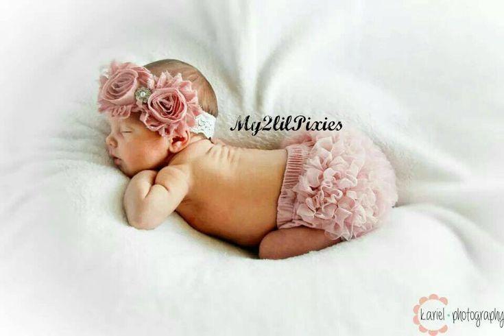 Bambino ragazza Shabby Chic Set balza Bum Baby di my2lilpixies