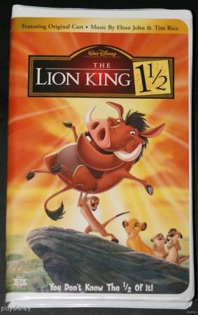 The Lion King 1 1/2 (VHS, 2004) | The o'jays, Lion and The ...