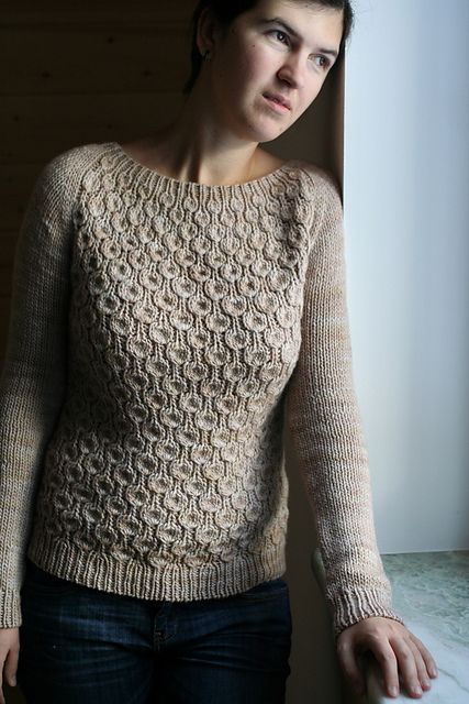 Anemone by Svetlana Volkova. malabrigo Worsted in Simple Taupe colorway.