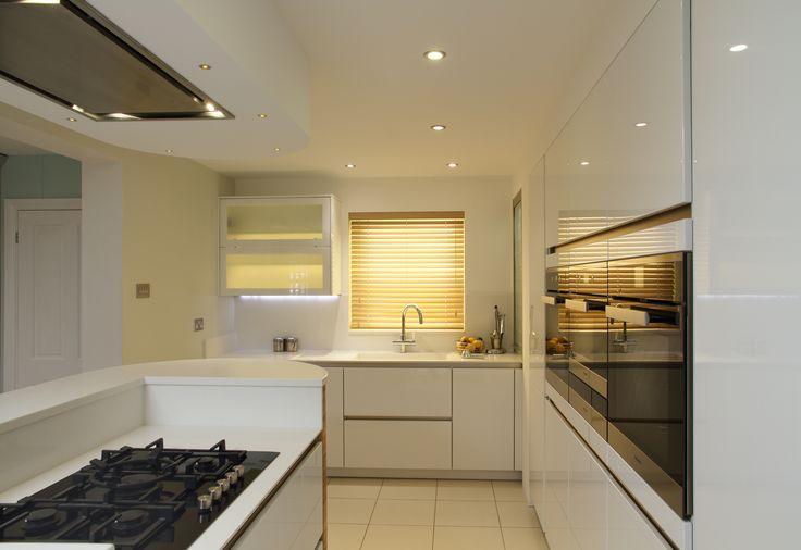 minimalistic cream kitchen by John Ladbury and Company