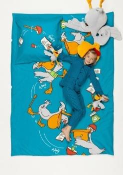 Woody - Dekbed Katoen Pelikaan Een dekbed gedecoreerd met een pelikaan. Afmetingen: 140x200 Uit de nieuwe Woody zomercollectie 2013! De collectie straalt naar goede gewoonte fun en plezier uit! Prijs: 65,00 euro