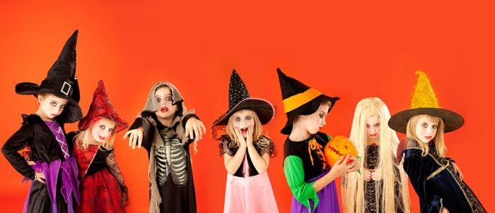 Halloween Gedichte, Kostüme für Kinder, sieben kleine Hexen, Kürbis schnitzen, Trick or Treat