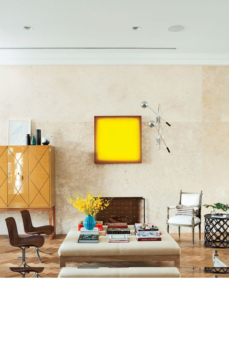 Luv the simple but bold painting...  Interiors   Nate Berkus