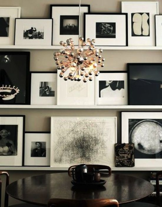 Photography Office...  Welcome Clients!: Picture, Dining Rooms, Idea, Lights Fixtures, Black And White, Galleries Wall, Photo Wall, Black White, Art Wall