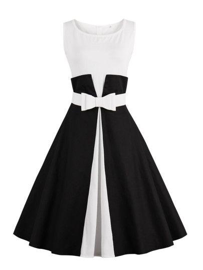 Kleid mit Farbblock und Gürtel – German SheIn(She…