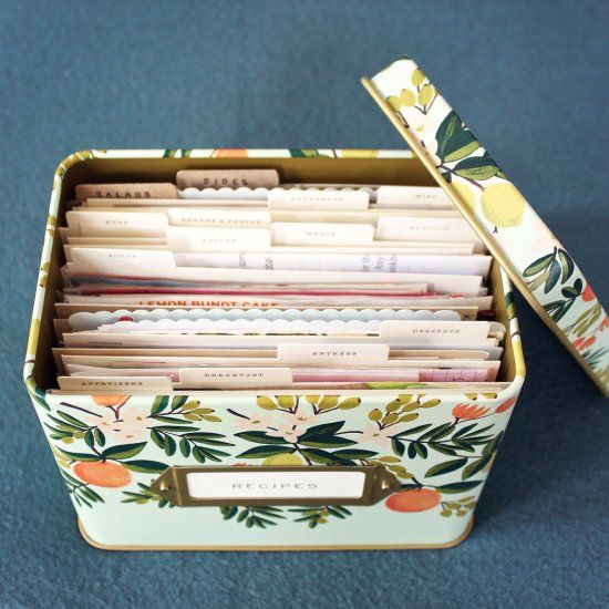 Give a meaningful gift to someone you love - a curated recipe box! Learn to make your own dividers, too!