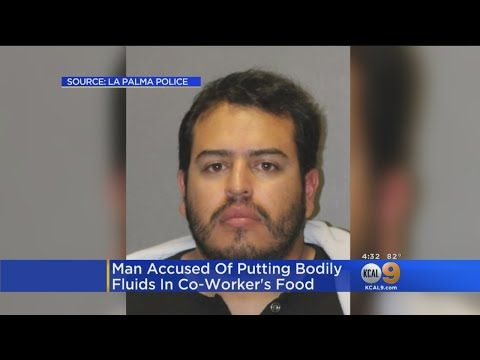 "THE LITTLE BOY, HIS SON WHO IS NOW 33 YEARS OF AGE DAVE LOPEZ ""KCAL 9 NEWS"" "" JUAN: IN ORANGE COUNTY MAN IS ACCUSED OF PUTTING BODILY FLUID IN A CO-WORKER'S FOOD AND WATER AND HER COMPUTER MOUSE THE ORANGE COUNTY DA CHARGED 27-YEAR-OLD WITH BATTERY ACCUSED OF PUTTING THE..."