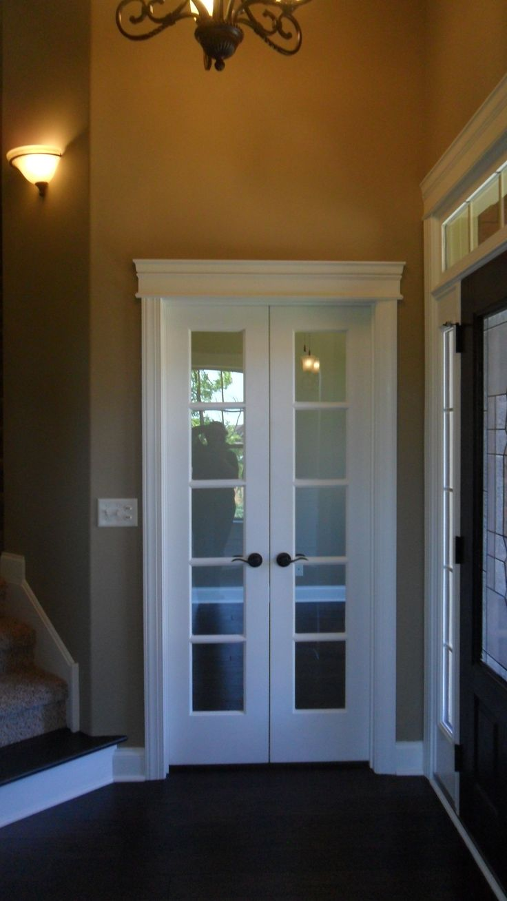 Smaller narrow french doors finished attic pinterest for Narrow exterior french doors