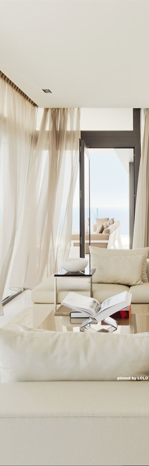 Love the color of the sheets  The Cliff House by Altea Hills Estate | From: http://roomdecorideas.eu/