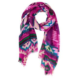 Shop for Handmade Saachi Women's Ikat Printed Scarf (China). Free Shipping on orders over $45 at Overstock.com - Your Online Clothing, Shoes