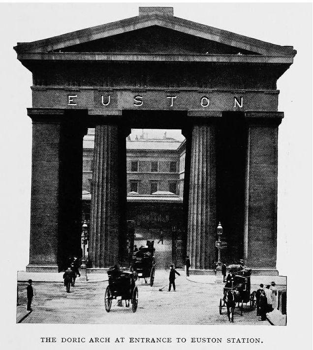 Doric Arch entrance to Euston Station