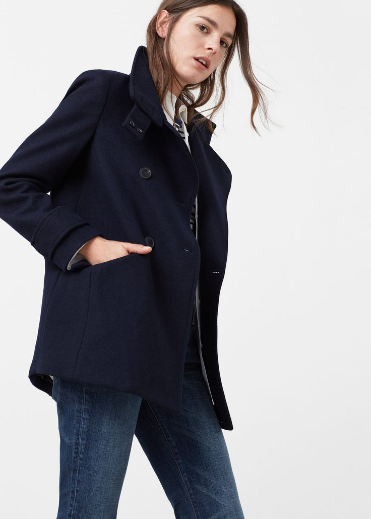 Manteau en laine à double boutonnage -  Femme   MANGO France