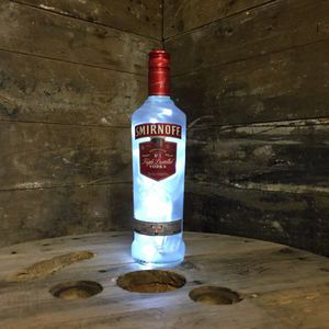 Upcycled Smirnoff Bottle Lamp