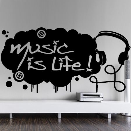 Stickers music is life stickers malin