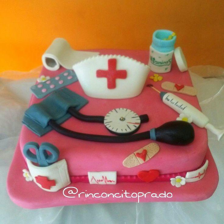 Torta de enfermera en fondant