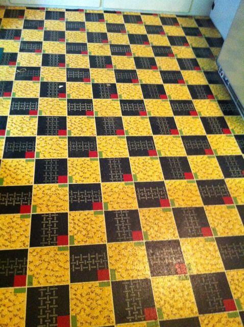 77 best images about vintage caravan vinyl lino floors on for Colourful lino flooring