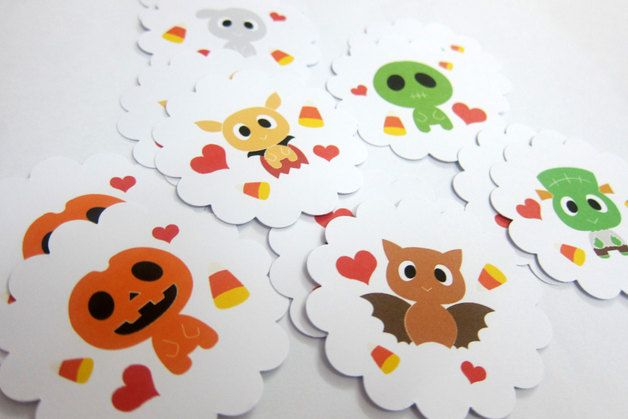 Halloween in DaWanda Halloween Decorations – Halloween - Cup Cake Toppers, Tags, Decorations – a unique product by araleling on DaWanda