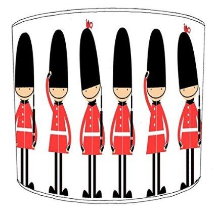 12 Inch Ceiling queens guard large childrens Childrens Lampshade: Amazon.co.uk: Kitchen & Home