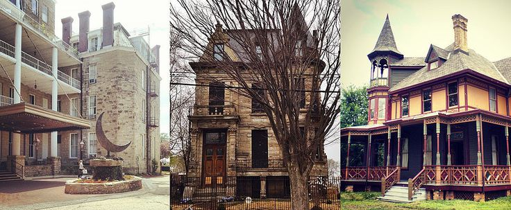 The 21 Creepiest Haunted Houses in America. I want to visit AAAAALL of them.