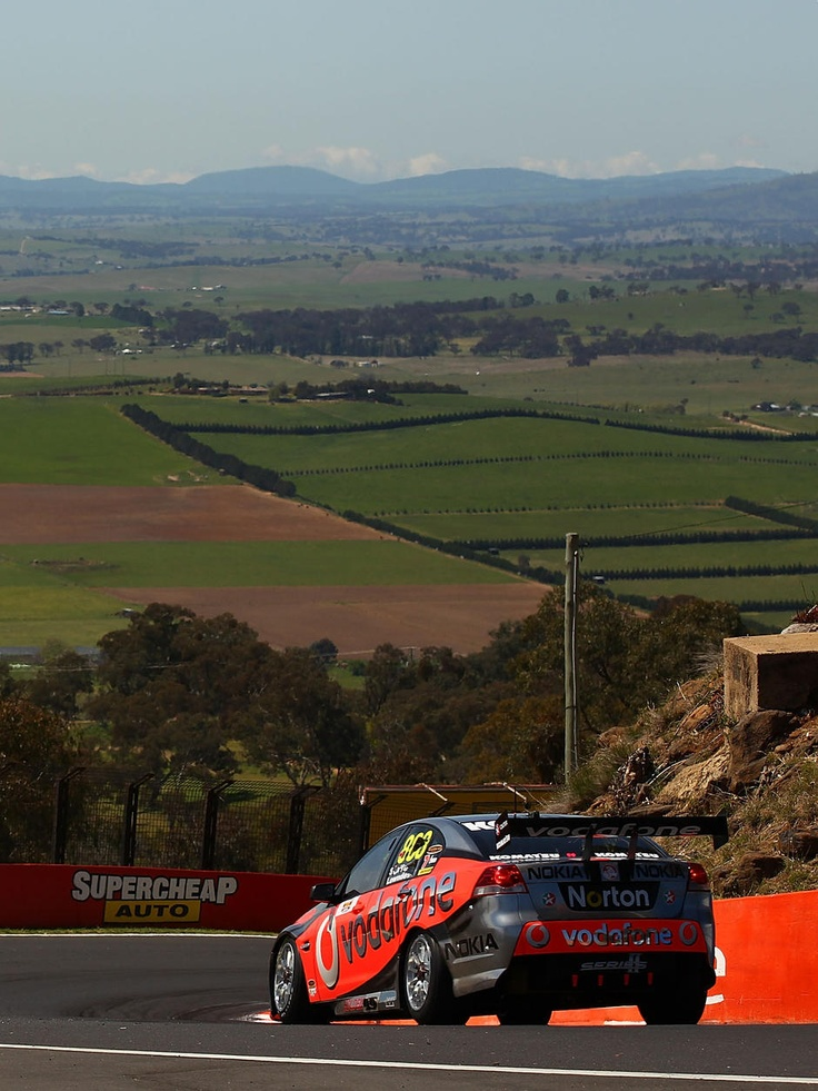 Best road track in the world (if I do say so myself).  > Mount Panorama, (race track) Bathurst, Australia.