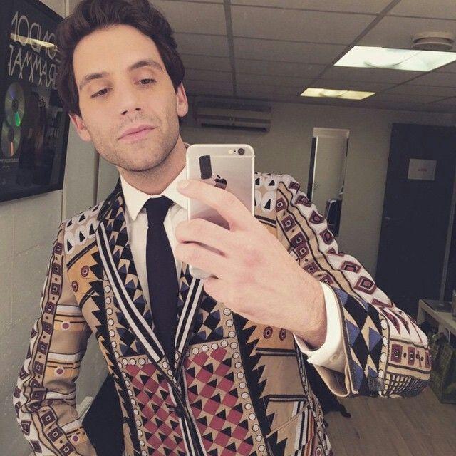 Mika in his Valentino suit