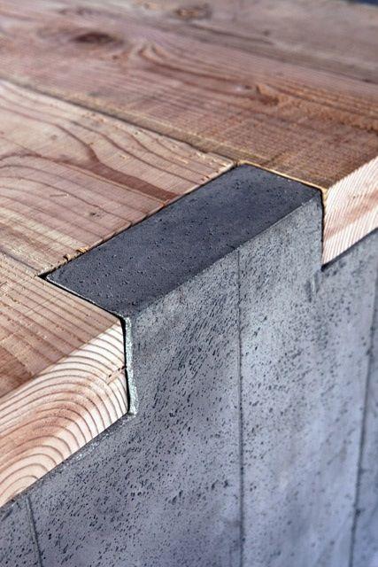 Concrete and wood, nice details.  Simple stuff and can use discarded materials.  Make a yard bench!