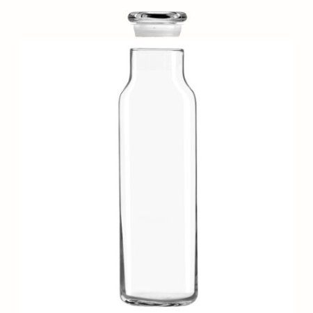 Amazon.com: Libbey Glass 24 Oz. Hydration Decanter Carafe Bottle w/ Glass Lid - Straight Cylinder: Kitchen & Dining