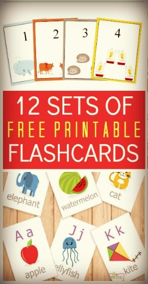 An awesome collection of flashcards that don't cost you anything. You can grab them quickly just by downloading and printing.