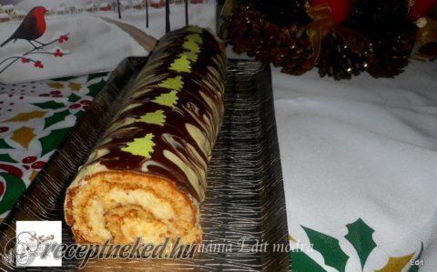 Karácsonyi mézes tekercs recept fotóval