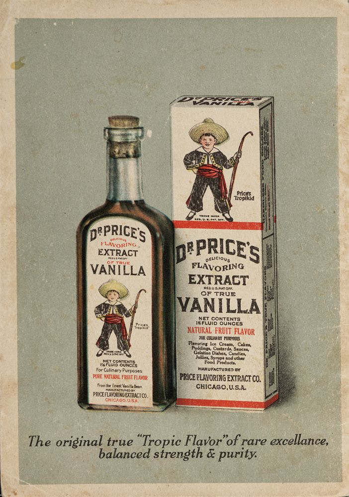 Dr. Price's Extract of True Vanilla,  Image number:SIL28-261-01Price Extract, Dr., Advertising Typography, Vanilla Extract, Ephemera Advertising, Image, True Vanilla, Price Vanilla, Extract Ephemera