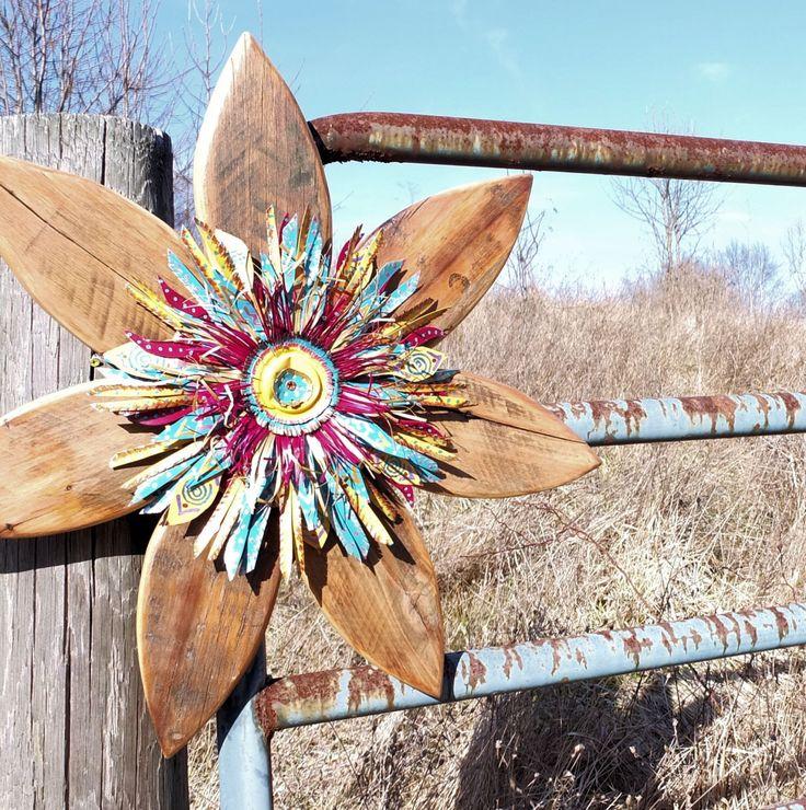 Rustic Wall Decor, Farmhouse Decor, Reclaimed Wood Art, Metal Outdoor Wall Art, Gypsy Decor, Primitive Decor, Bohemian, Primitive Wreath by SalvageandBloom on Etsy https://www.etsy.com/listing/270030573/rustic-wall-decor-farmhouse-decor