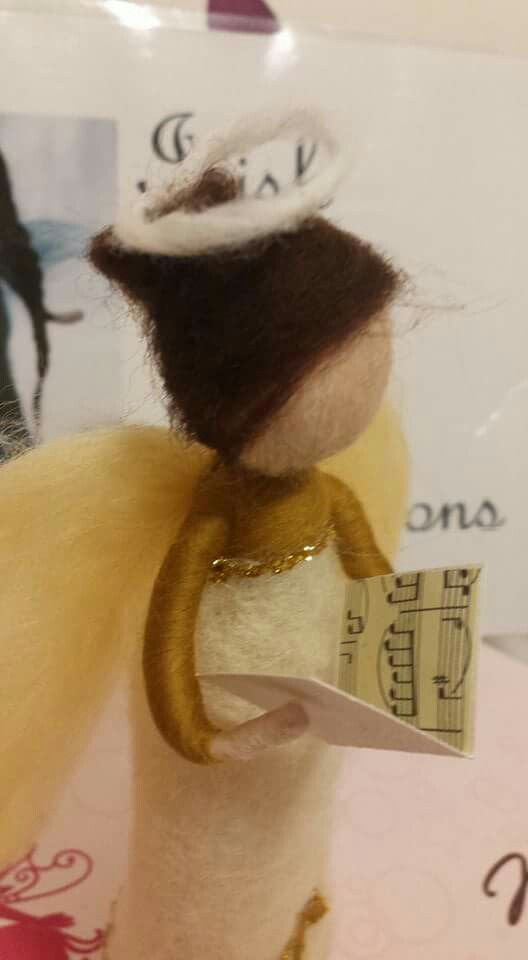 Hand-felted Carol singing Angel. For more check out the Irish Wasp Creations Facebook page
