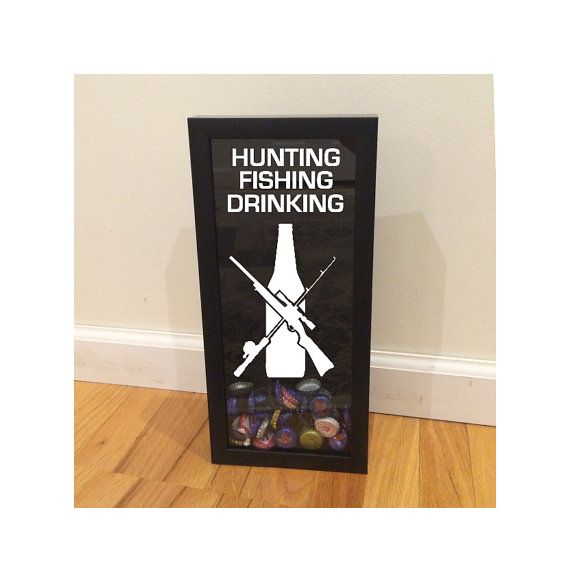 Beer bottle cap holder hunting fishing drinking for Hunting and fishing gifts