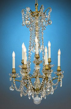 17 Best images about Let there be light! on Pinterest | French ...:Supported by cast bronze ormolu, this captivating eight-light chandelier is  adorned with crystal,Lighting