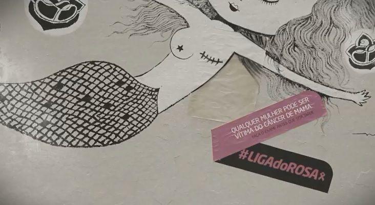 街に溢れる「落書き」をキャンペーンに活用! ブラジルの乳がん啓発企画が斬新 | AdGang