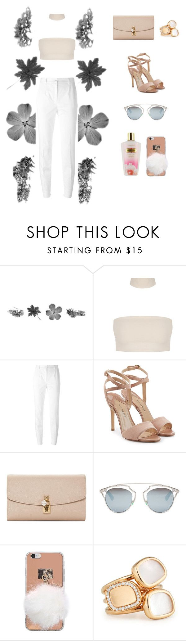 """""""A walk around town ✨"""" by barbaraa-xx ❤ liked on Polyvore featuring Dolce&Gabbana, Paul Andrew, Christian Dior, Roberto Coin and Victoria's Secret"""