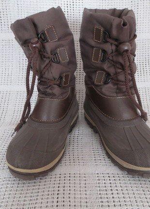 Kaufe meinen Artikel bei #Mamikreisel http://www.mamikreisel.de/kleidung-fur-jungs/hohe-stiefel/34050495-braune-winterstiefel-schneestiefel-gr-2930