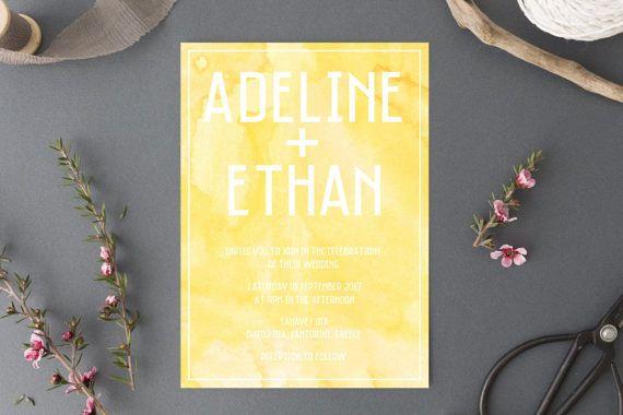 Printable Wedding Invitation // Watercolour Wedding // Wedding Invitation // Digital Invite // Watercolour Wedding Invite // DIY template
