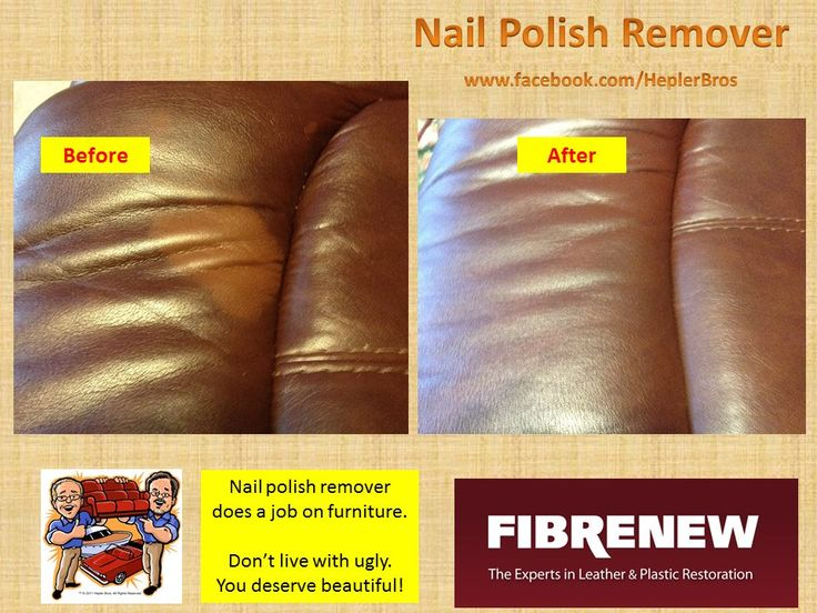 Nail Polish Remover Takes Off More Than It Took The Color Right Leather Couchesleather