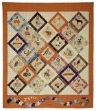 Aussie ABC Quilt Pattern KKQ-001e (instant download) is a delightful alphabet quilt featuring Australian themes.  Available at http://quiltwoman.com/Aussie-ABC-Quilt-Pattern-Downloadable.aspx
