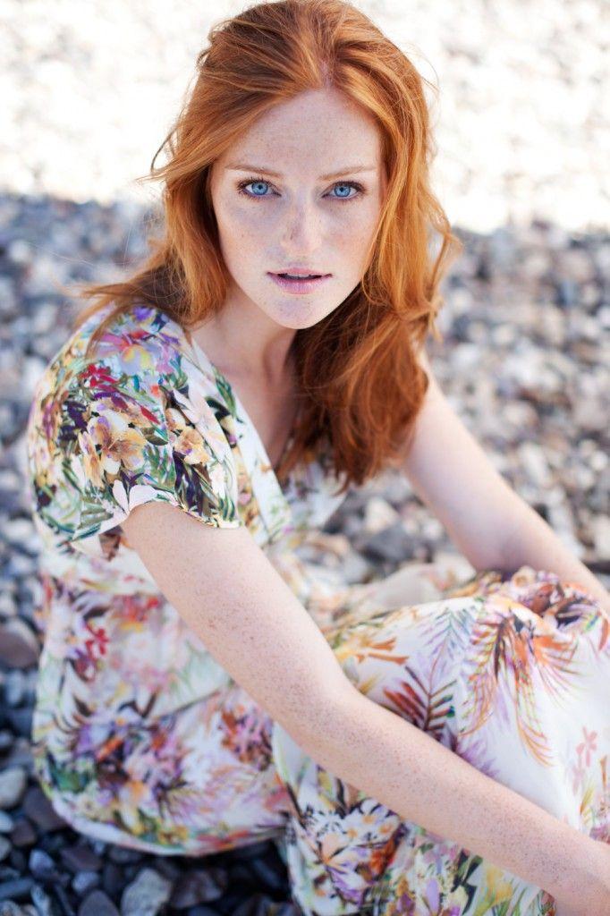 Red hair, Model photos and Flower dresses on Pinterest
